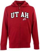 Antigua Men's Utah Utes Signature Zip Front Fleece Hoodie