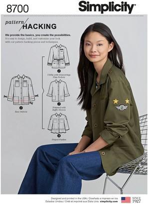 Simplicity Women's Jacket Design Hacking Sewing Pattern, 8700