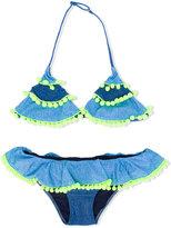 Mc2 Saint Barth Kids - Bonny Blug bikini set - kids - Polyamide/Spandex/Elastane - 14 yrs