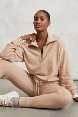 Varley Buckingham Quarter-Zip Pullover By in Beige Size XS