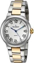 Peugeot Women's 'Silver' Quartz Metal and Alloy Dress Watch, Color:Two Tone (Model: 7086TT)