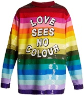 Ashish Love Sees No Colour sequin-embellished silk top