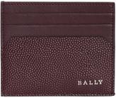 Bally Logo Detail Leather Card Holder
