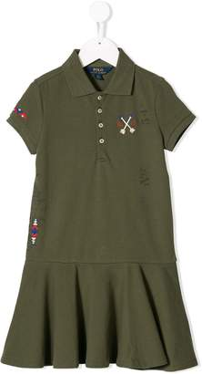 Ralph Lauren Kids embroidered polo dress