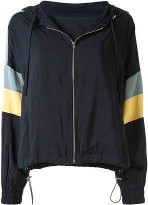 GOEN.J Colour-Block Zip-Up Hoodie