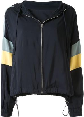 GOEN.J colour-block zip-up hoodie