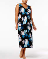 Alfani Plus Size V-Neck Printed Nightgown, Only at Macy's