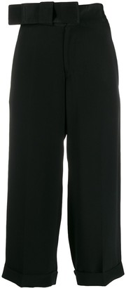 Yohji Yamamoto Pre Owned 1990s ribbon waist trousers