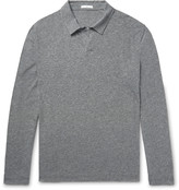 James Perse - Mélange Cotton-blend Polo Shirt