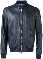 Jacob Cohen leather bomber jacket - men - Cotton/Leather/Viscose - 48