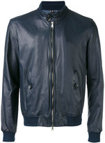 Jacob Cohen leather bomber jacket - men - Leather/Cotton/Viscose - 48