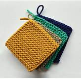 Creative Co-Op Square Cotton Crocheted Potholder