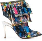Natasha Zinko printed Emoji Line ankle boots