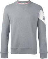 Moncler Gamme Bleu contrast stripe sweatshirt