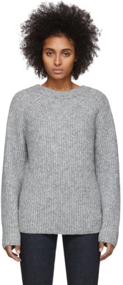 Helmut Lang Grey Wool and Alpaca Ghost Sweater