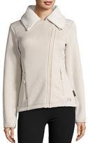 Jack Wolfskin Terra Nova Asymmetrical Zip Front Fleece Lined Performance Jacket