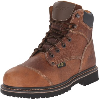 AdTec Ad Tec Mens 6 Inch Soft Plain Toe Work Boots Specially Design for Working Men Lace Up Closer Durable Leather Oil and Slip Resistant PU Out Sole