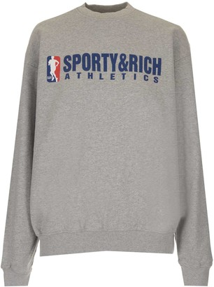 Sporty & Rich Team Logo Print Crewneck Sweatshirt