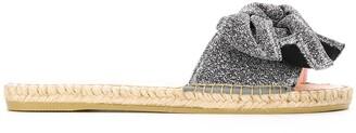 Manebi Hamptons bow jute-sole slides