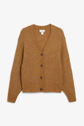 Monki Button-up knit cardigan
