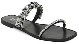Badgley Mischka Women's Jenelle Embellished Strappy Slip On Sandals