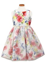 Sorbet Toddler Girl's Floral Print Shantung Dress