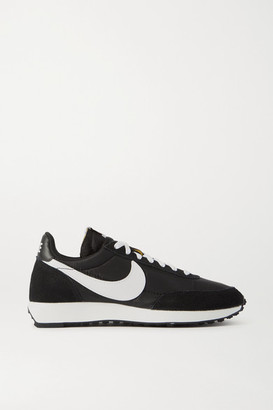 Nike Air Tailwind 79 Leather-trimmed Shell And Suede Sneakers - Black