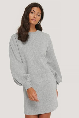 NA-KD Puff Sleeve Sweatshirt Dress