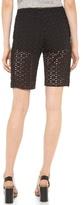 See by Chloe Eyelet Knee Length Shorts