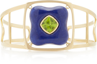 Rush Jewelry Design Draper 18K Yellow Gold and Lapis Cuff