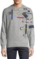 Versace Embroidered Laszlo Collage Sweatshirt