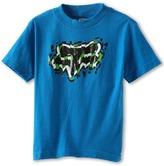 Fox Griswold S/S Tee (Big Kids) (Blue) - Apparel