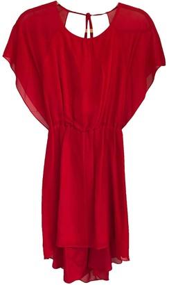 Elizabeth and James Red Silk Dresses
