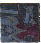 Etro abstract print frayed scarf