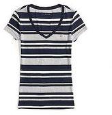 Tommy Hilfiger Women's Vneck Stripe Tee