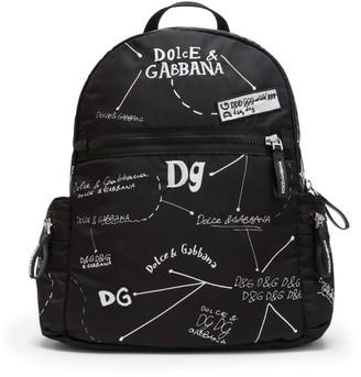 Dolce & Gabbana Kids Logo Diagram Backpack
