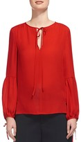 Whistles Erin Silk Tie Blouse