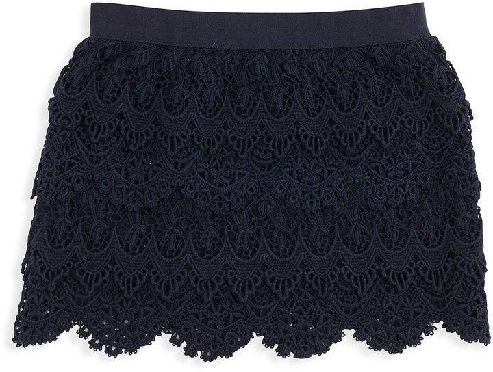 Ralph Lauren Ruffled Knit Blouse, Essex Cream, 2T-3T