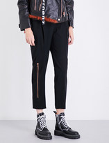Proenza Schouler Straight cropped stretch-wool trousers