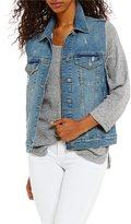 Silver Jeans Co. Oversized Destructed Denim Vest
