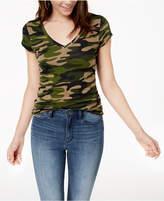 Planet Gold Juniors' Printed V-Neck T-Shirt