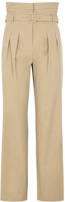Pushbutton PushBUTTON Panelled Cotton-blend And Denim Trousers