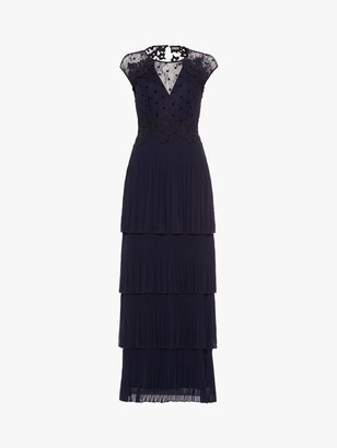 Phase Eight Collection 8 Oiriana Pleated Dress, Navy