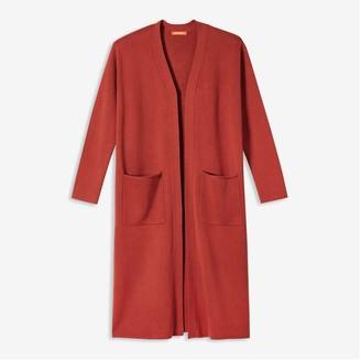 Joe Fresh Women's Coatigan, Dusty Red (Size S)