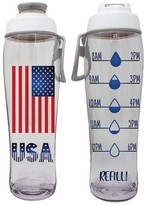 Drink More Water Daily Hours Marked 50 Strong BPA Free Reusable Water Bottle with Time Marker Tracker Helps You Drink Water All Day -Made in USA Motivational Fitness Bottles