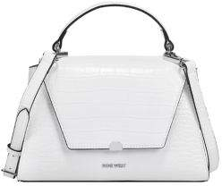 Nine West Ridgewood Flap Faux Leather Top Handle Bag