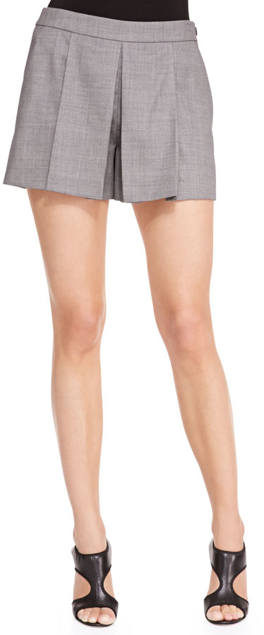 Alexander Wang Pleat-Front Suiting Shorts