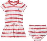 Ralph Lauren Berry Pink Stripe Jersey Dress and Bloomer Set