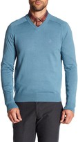 Original Penguin Long Sleeve V-Neck Pull Over Sweater