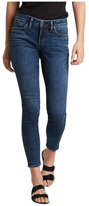 Silver Jeans Co. Suki Mid-Rise Curvy Fit Skinny Jeans L93136SDB376 (Indigo) Women's Jeans